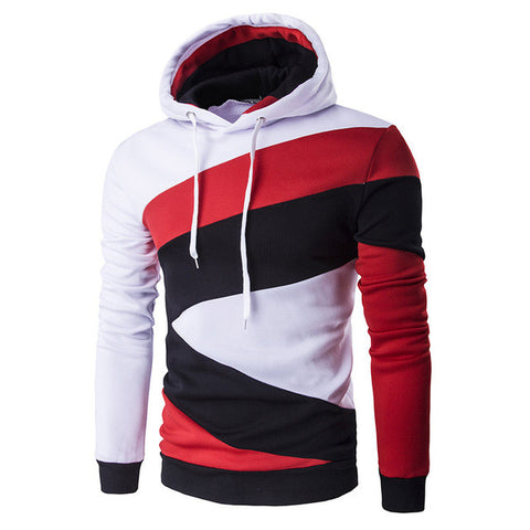 Autumn Hoodies Mens Male Hip Hop Male Hoodie Hit Color Stitching Sweatshirt-iuly.com