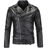Men'S Pu Leather Motorcycle Leather Casual Wave Of Version-iuly.com