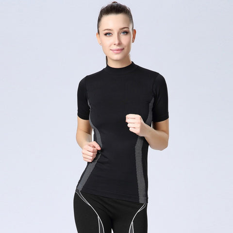 Women Quick Dry Sports Short Sleeve T Shirt Women Professional Fitness-iuly.com