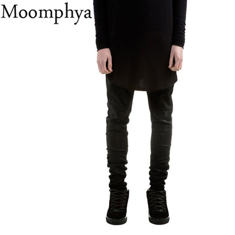 Black Men Denim Jeans Skinny Jeans Famous Slim Fit Straight Jeans Men-iuly.com