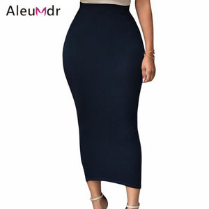 Aleumder Summer Pencil Skirt Office Lady Bodycon Slim Vintage Midi Ski-iuly.com