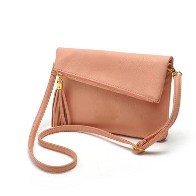Famous Design Small Fold Over Bag Mini Women Messenger Bags Leather Crossbody-iuly.com