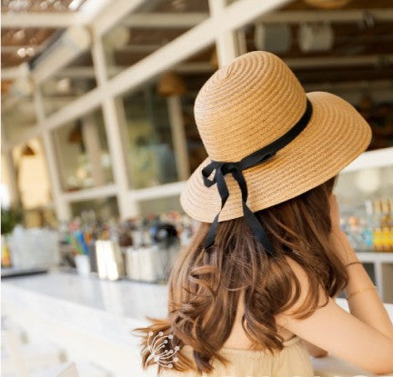 [] 2015 Women'S Foldable Wide Large Brim Floppy Summer Beach Sun Straw-iuly.com