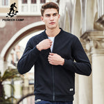Camp Black Thick Fleece Hoodies Men Clothing Solid Casual Zipper Sweatshirt-iuly.com