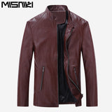 Best Selling Fashion Pu Leather Jacket Men Good Casual Slim Mens Jacket Coat-iuly.com