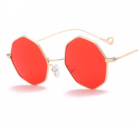 10 Colors Women Octagon Sunglasses Trend Men Metal Frame Square Tint/Reflec-iuly.com
