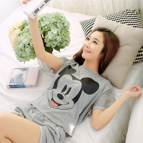 Soprt Leisure Clothes Spring & Summer Short Sleeved Women Pajamas Silk-iuly.com
