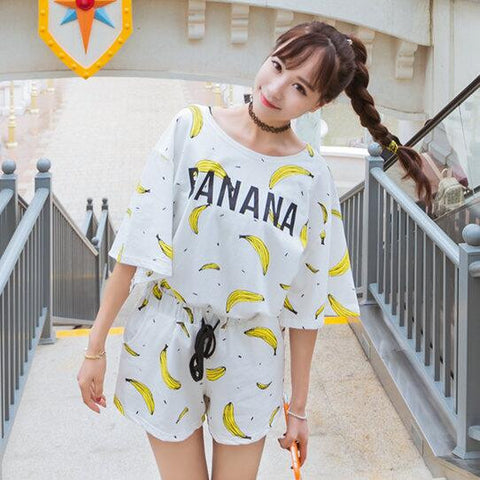 Casual Version Milk Silk Thin Models Summer Women Pyjamas Pink Pyjamas-iuly.com
