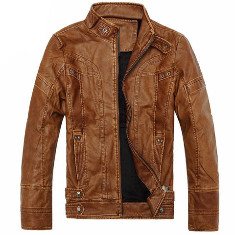 Motorcycle Leather Jackets Men Autumn Winter Leather Clothing Men Leather Jackets-iuly.com