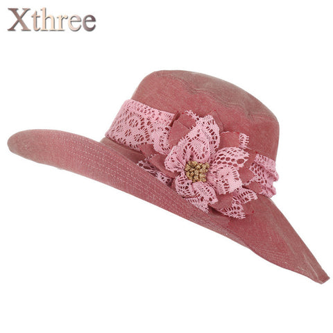 Chapeu Sun Hat For Women Design Flower Foldable Summer Hat Beach Vintage-iuly.com