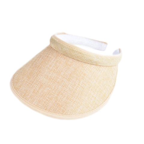 Spring Summer Big Wide Brim Straw Sun Visors Hat Women/Gilr Empty Top-iuly.com