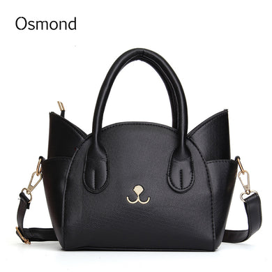 Mini Animal Handbag Cute Leather Small Cat Messenger Bags Women Trapeze-iuly.com