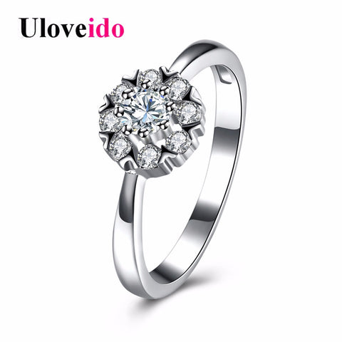 925 Sterling Silver Rings Women Costume Jewelry Ring Female Cubic Zirconia-iuly.com