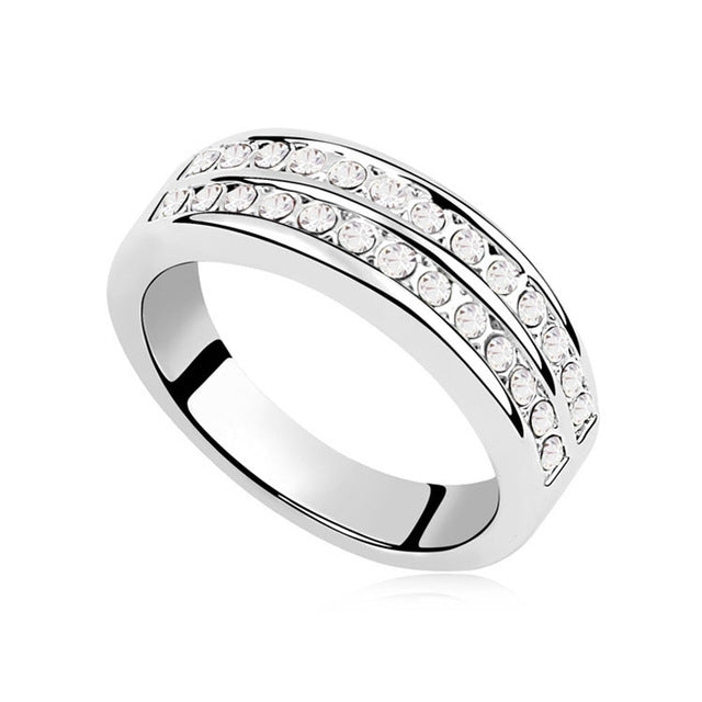 Circular Rings Women With Crystal From Swarovski Female Wedding Jewelr-iuly.com