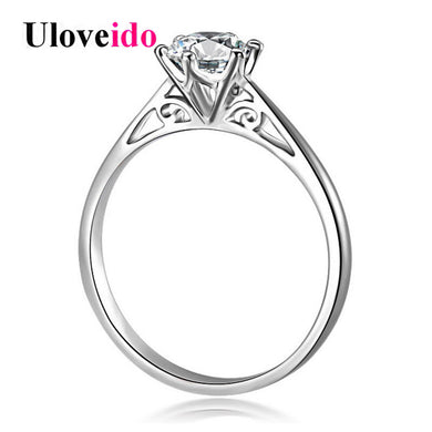 5% 925 Sterling Silver Wedding Rings Women Zircon Woman Ring Female Bijoux-iuly.com