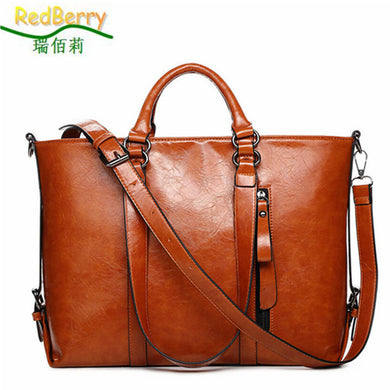 Genuine Leather Bags Tote Women Leather Handbags Women Messenger Bags Shoulder-iuly.com