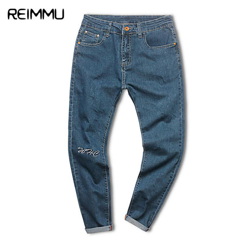 Fashion Skinny Jeans Men Ankle-Length Male Denim Jumpsuit Casual Denim-iuly.com