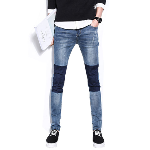 Casual Jeans Homme Men'S Jeans Washing Wear Mens Patchwork Jeans Pants-iuly.com