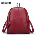 Casual Backpack Women Genuine Cow Leather Bag Women Backpack Mochila Feminina-iuly.com