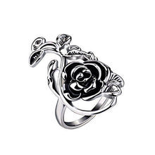 Load image into Gallery viewer, Antique Silver Color Retro Flower Female Ring Women Vintage Jewelry-iuly.com