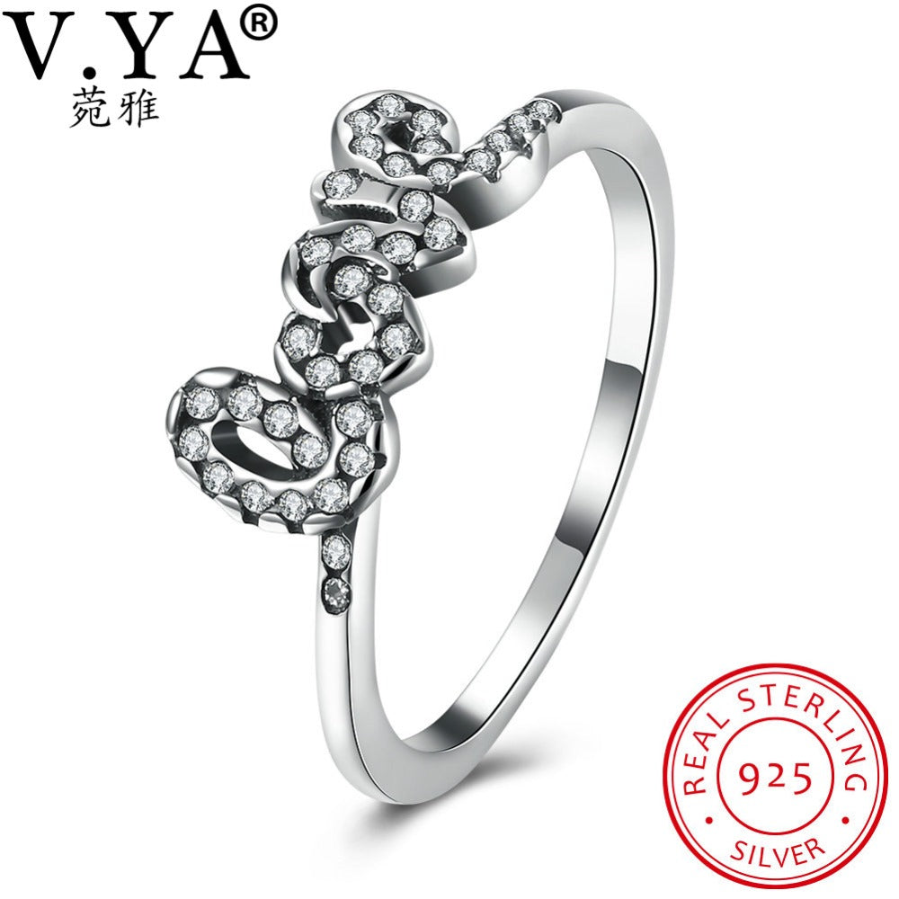 925 Sterling Silver Rings Women Female Finger Ring Woman Wedding Jewelry-iuly.com