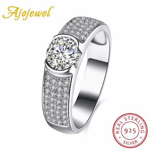 Classic 925 Sterling Silver Wedding Rings Women Bagues Tendances Micro-iuly.com