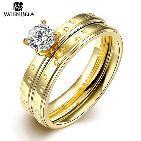 Female Rings Women Jewellery Mix Lots Titanium Steel Wedding Rings Pair-iuly.com