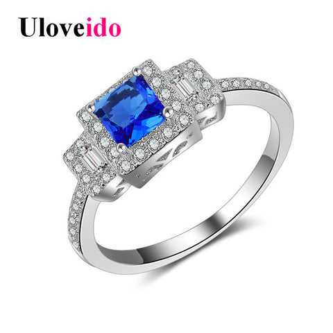 925 Sterling Silver Jewelry Wedding Rings Women Engagement Ring Female-iuly.com
