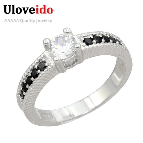 Rings Women Wedding Rhinestone Ring With A Stone Female Silver Engagement-iuly.com