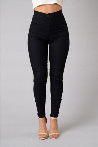 Casual Jeans For Women Long Style Large Size Skinny Women Pants Waist-iuly.com