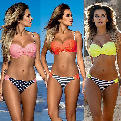 Swimwear Bikini Push Up Bikini Low Waist Beach Swimwear Ladies Swimsui-iuly.com