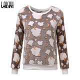 Laisiyi Women Hoody Spring Autumn Long Sleeve Casual Sweatshirts Cute-iuly.com