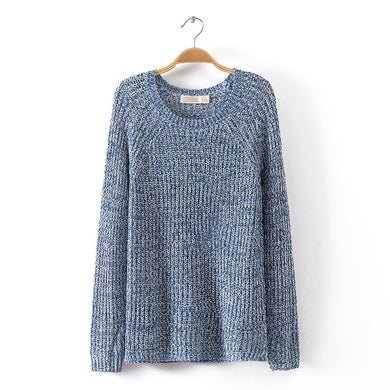 Spring Autumn Style Women Pullover Knitted Sweater Plus Size Mixed Mot-iuly.com