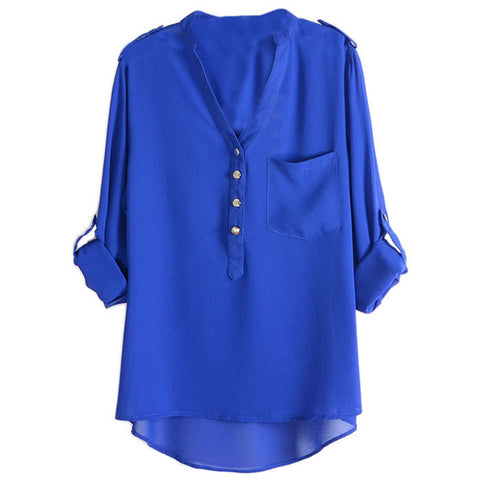 Amazing Women Blusas Loose Chiffon Tops Blouse Summer Style-iuly.com