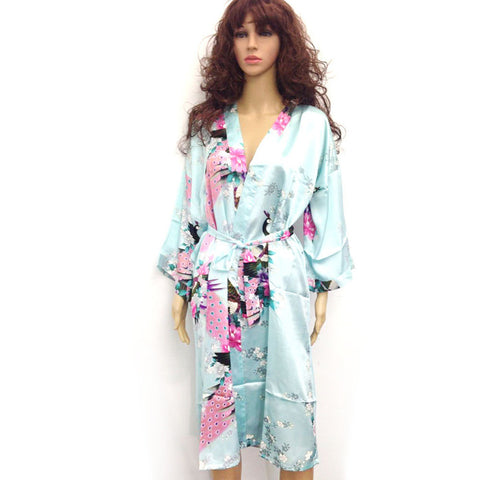 10 Colors Plus Size 3Xl Womens Floral Sleepwear Satin Bridesmaid Night-iuly.com
