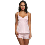 Ekouaer Women Clothes For Summer Shorts Sets V-Neck Sleepwear Satin Pa-iuly.com