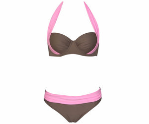 Bikinis Women Swimsuit Waisted Bathing Suits Swim Halter Top Push Up B-iuly.com