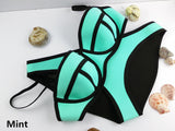 Swimwear Woman Neoprene Bikinis Women Summer Swimsuit Bath Suit Push U-iuly.com