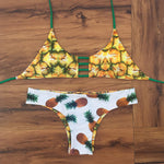 Brazilian Swimwear Reversible Bikinis Women Swimsuit Pineapple Series-iuly.com