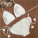 Knitted Swimsuit Bikini Set Swimwear Women Bathing Suit Handmade Croch-iuly.com