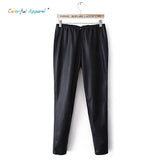 Colorful Apprel [B-1562] Pu Leather Pants Women Cashmere Leather Pants-iuly.com