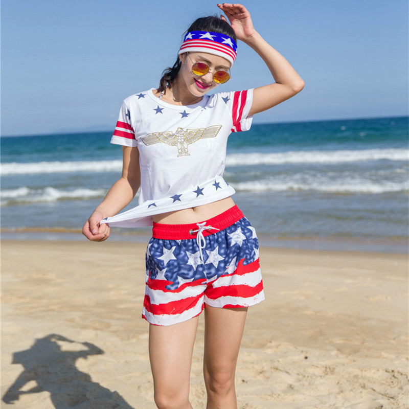 Casual Shorts Women Summer Style Beach Clothes Print Short Feminino Bo-iuly.com