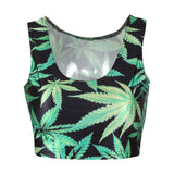 Bat Mysterious Summer Women Crop Tops Tank Tops Vintage Tops-iuly.com