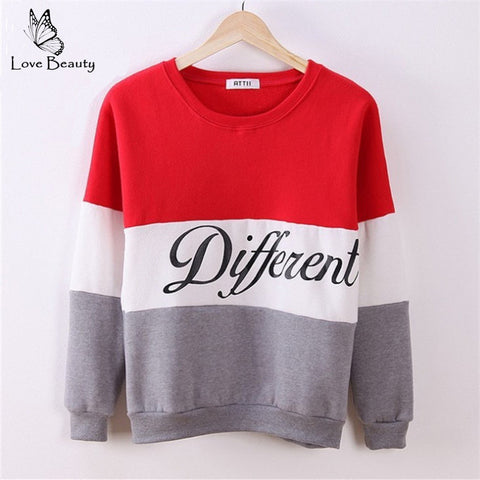 Autumn And Winter Women Fleeve Hoodies Printed Letters Different Women-iuly.com