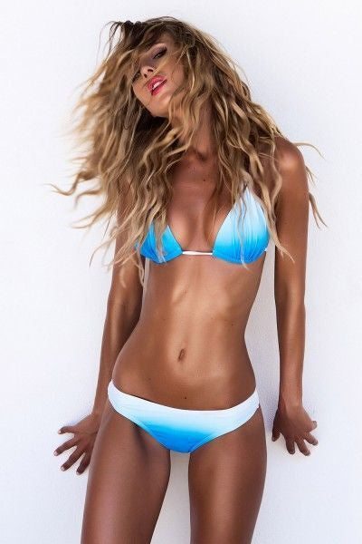 Woman Padding Push Up Bikinis Strappy Tie Up Bikini Women Halter Swimw-iuly.com