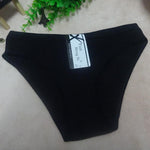 86953 Solid Color Cotton Women Briefs Panties-iuly.com