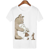 Cute Totoro T Shirt Women Cartoon 3D Casual Tops Tees Blusa P-iuly.com