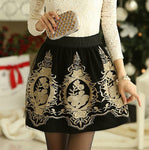 Black Grunge Faldas Skirts Embroidery Vintage Women S Xxl Retro Female-iuly.com