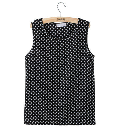 Casual Women Girl Chiffon Sleeveless Crew Vest Tank Tops Blouse T-Shir-iuly.com