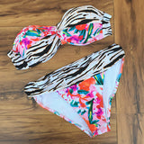 Push Up Padded Bikini Women Vintage Swimwear Bikini Print Swimsuit Pad-iuly.com
